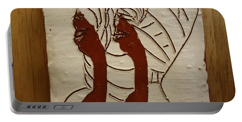 Jesus Portable Battery Charger featuring the ceramic art Abakyala - Women - Tile by Gloria Ssali