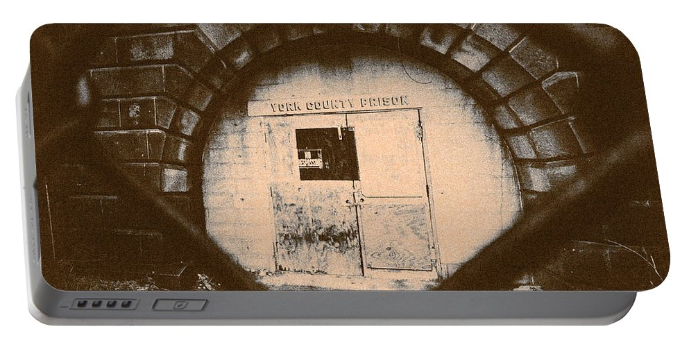 Prison Portable Battery Charger featuring the photograph Abandon Hope All Ye Who Enter Here by Paul Kercher
