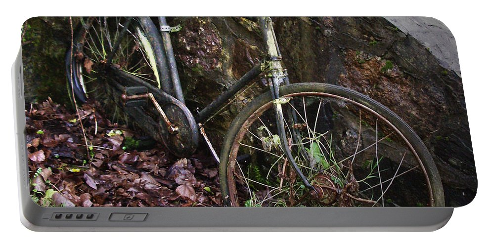 Irish Portable Battery Charger featuring the photograph Abandoned Bicycle by Tim Nyberg