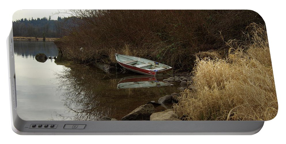Abandoned Portable Battery Charger featuring the photograph Abandoned Boat II by Cindy Johnston