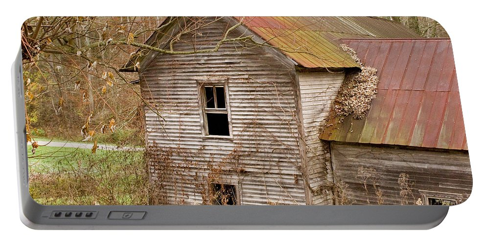 Abandoned Portable Battery Charger featuring the photograph Abandoned Turn Of Centruy Home by Douglas Barnett