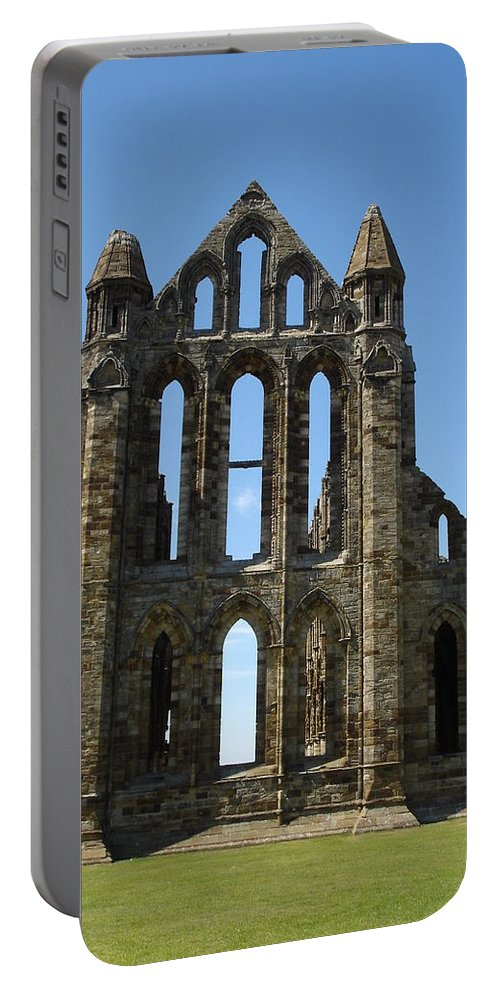 Abby Portable Battery Charger featuring the photograph Abbey At Whitby by Susan Baker
