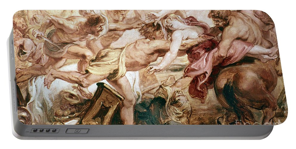 Abduction Portable Battery Charger featuring the painting Abduction Of Hippodamia by Granger