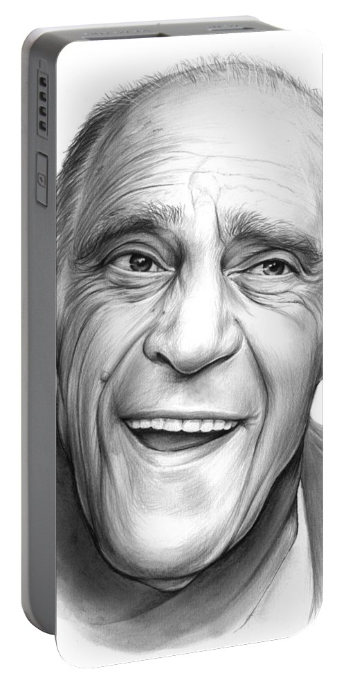 Celebrities Portable Battery Charger featuring the drawing Abe Vigota by Greg Joens