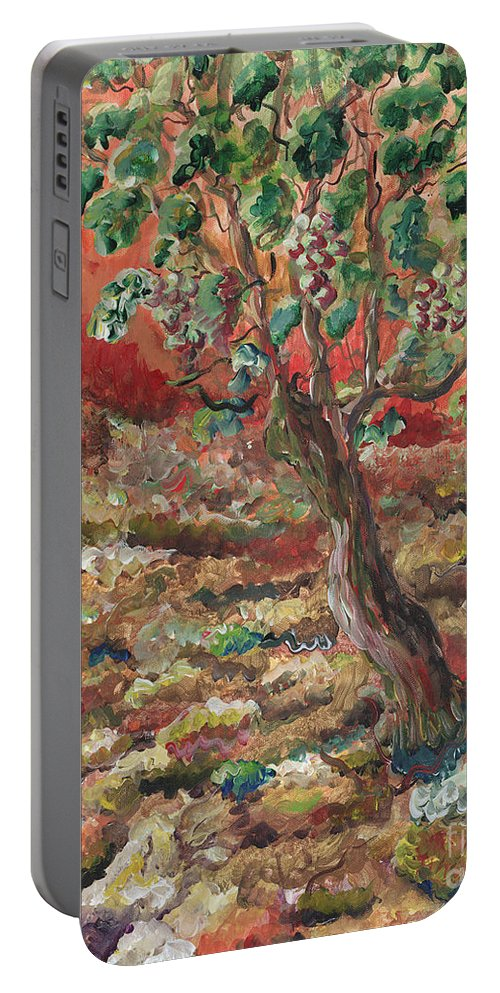 Abide Portable Battery Charger featuring the painting Abide by Nadine Rippelmeyer