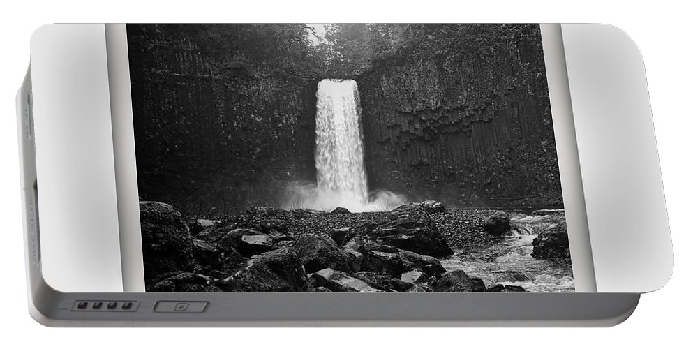 Columbia Gorge Portable Battery Charger featuring the photograph Abiqua Falls Amphitheater by Ingrid Smith-Johnsen