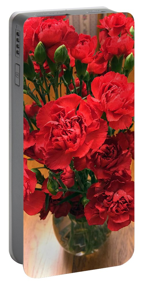 Flowers Portable Battery Charger featuring the photograph Ablaze by James Pinkerton