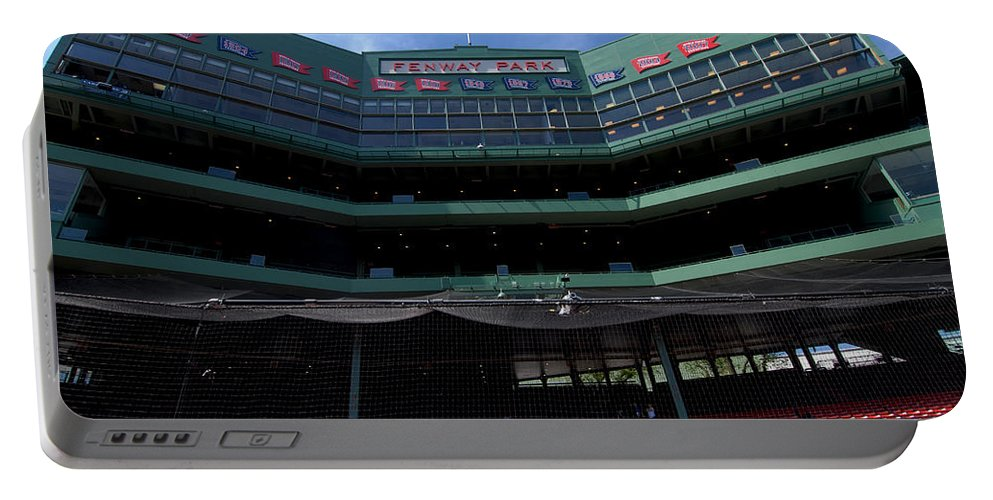 boston Red Sox Portable Battery Charger featuring the Above It All by Paul Mangold