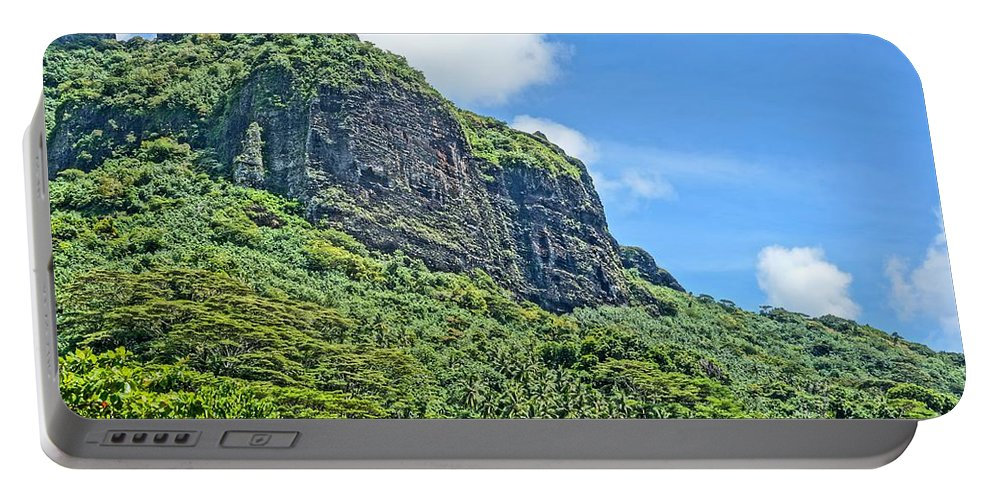Moorea Portable Battery Charger featuring the photograph Above The Clouds by Ivana Kovacic