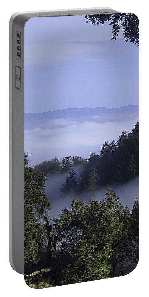 Lalndscape Portable Battery Charger featuring the photograph Above The Clouds by Karen W Meyer
