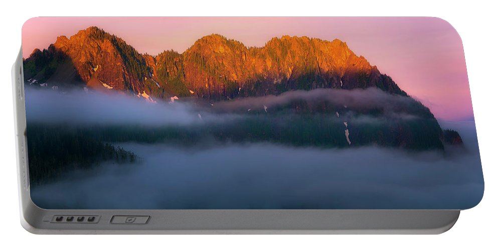 Tatoosh Portable Battery Charger featuring the photograph Above The Clouds by Ryan Manuel