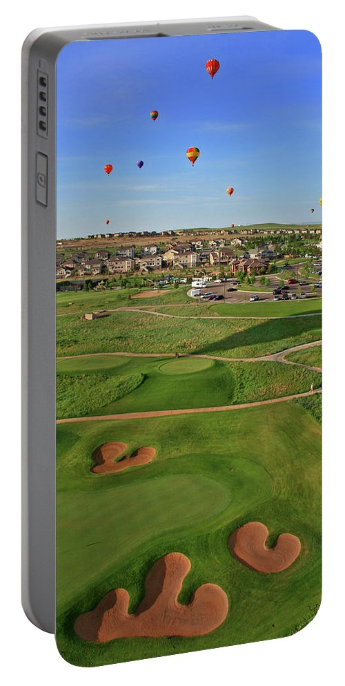 Golf Portable Battery Charger featuring the photograph Above The Course by Scott Mahon