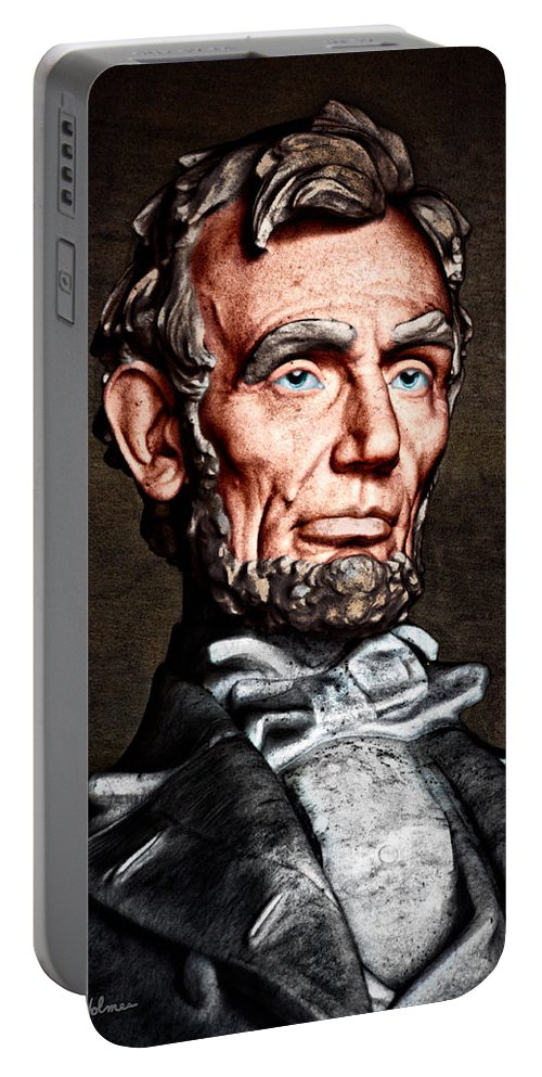 Abraham Lincoln Portable Battery Charger featuring the photograph Abraham Lincoln by Christopher Holmes
