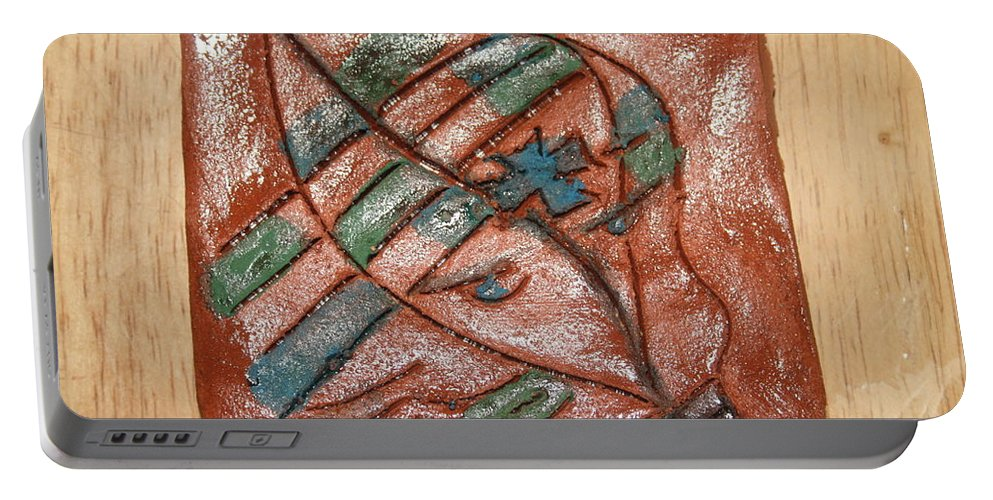 Jesus Portable Battery Charger featuring the ceramic art Absence - Tile by Gloria Ssali