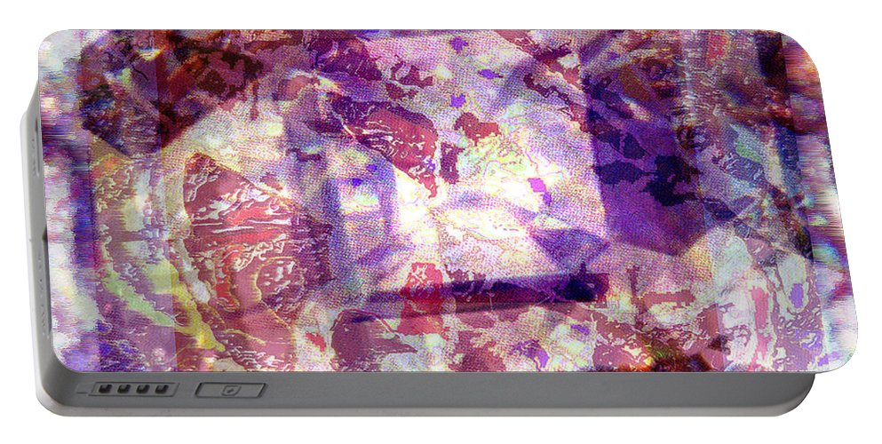 Abstract Portable Battery Charger featuring the digital art Abstacked by Seth Weaver
