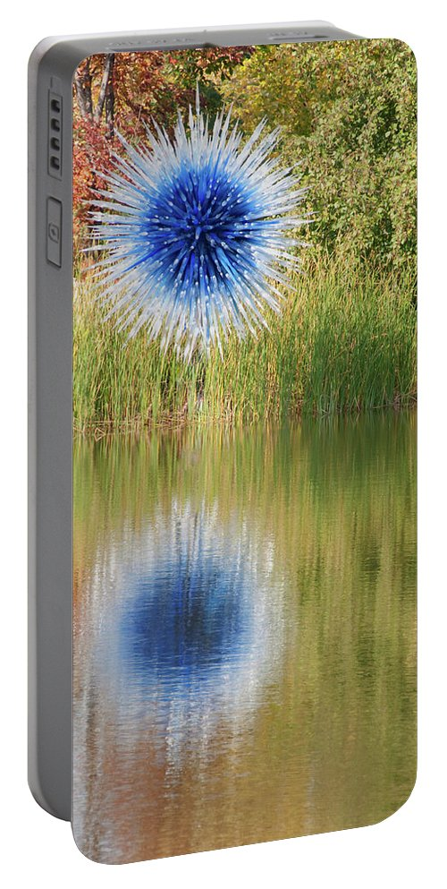 Abstact Portable Battery Charger featuring the photograph Abstact Sphere Over Water by David Arment
