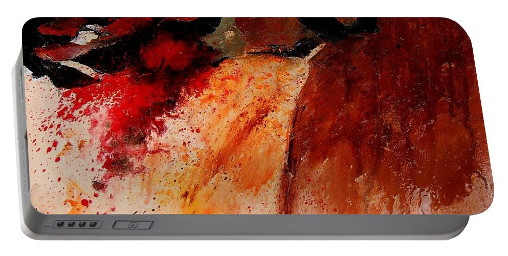 Abstract Portable Battery Charger featuring the painting Abstract 010607 by Pol Ledent