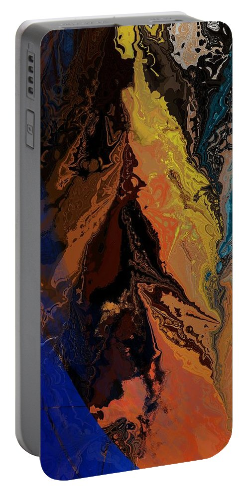Fine Art Portable Battery Charger featuring the digital art Abstract 010811 by David Lane
