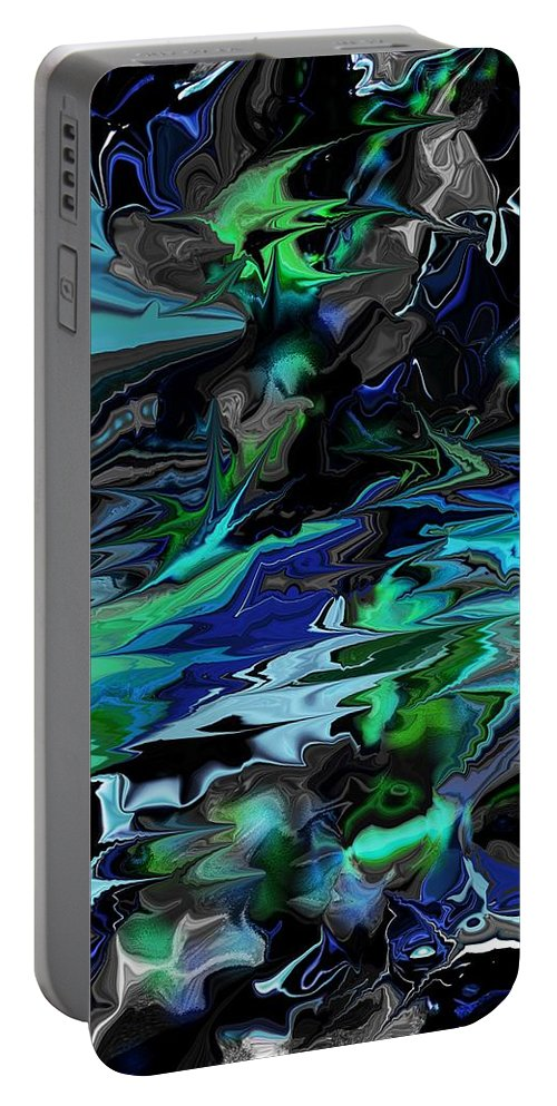 Abstract Portable Battery Charger featuring the digital art Abstract 011211 by David Lane