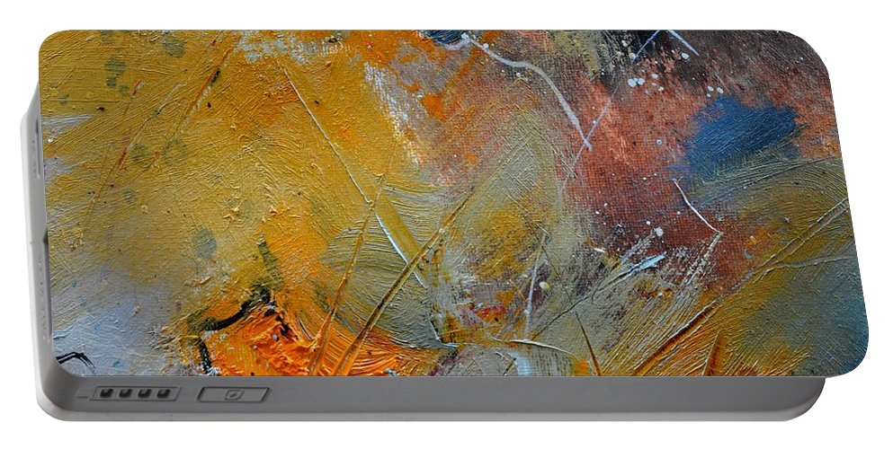 Abstract Portable Battery Charger featuring the painting Abstract 015011 by Pol Ledent