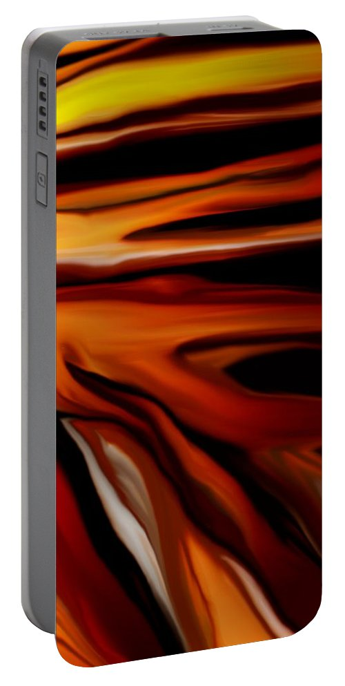 Digital Painting Portable Battery Charger featuring the digital art Abstract 02-12-10 by David Lane