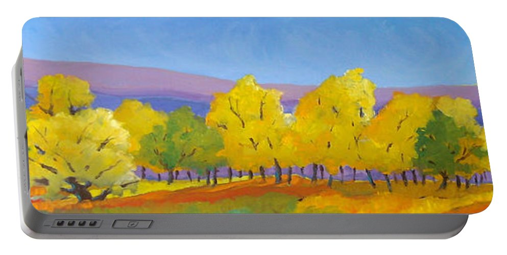 Abstract Portable Battery Charger featuring the painting Abstract 02 by Richard T Pranke