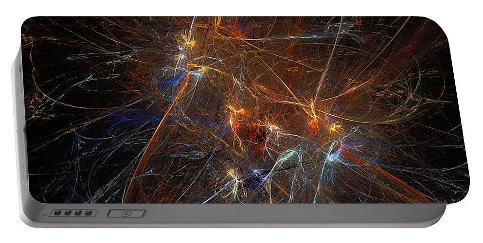 Pollock Portable Battery Charger featuring the digital art Abstract 022311 by David Lane