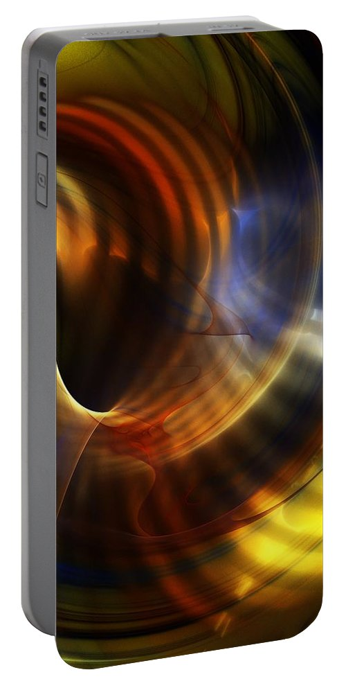 Fine Art Portable Battery Charger featuring the digital art Abstract 040511 by David Lane