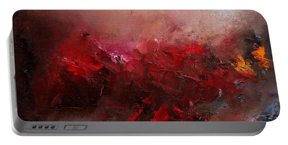 Abstract Portable Battery Charger featuring the painting Abstract 056 by Pol Ledent