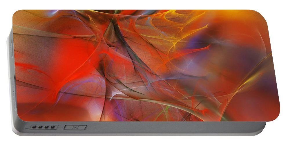 Abstract Portable Battery Charger featuring the digital art Abstract 062910a by David Lane