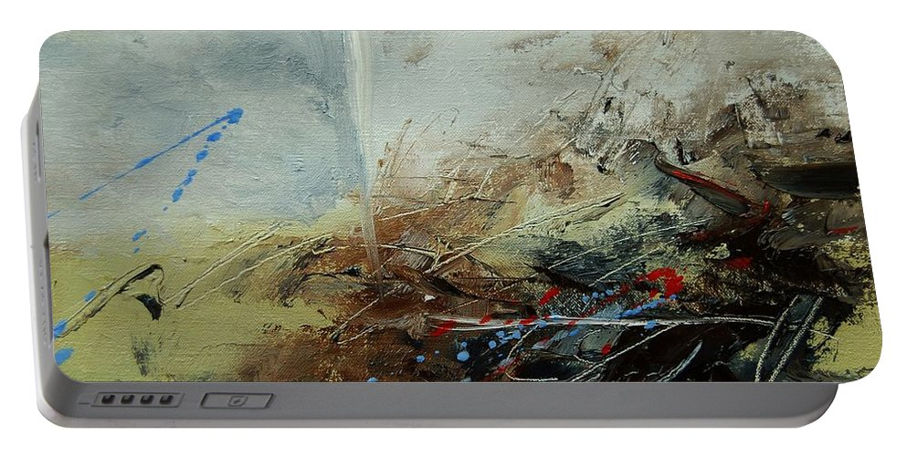 Abstract Portable Battery Charger featuring the print Abstract 070408 by Pol Ledent