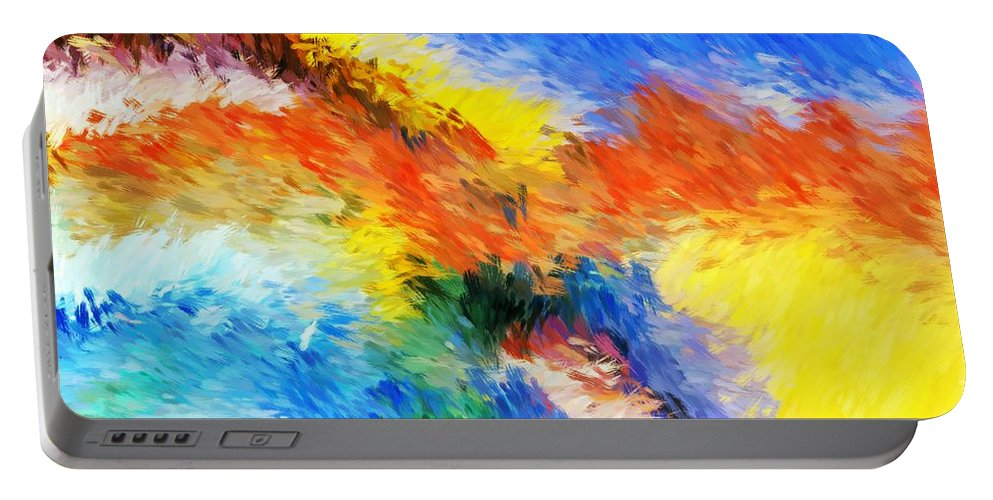 Abstract Portable Battery Charger featuring the digital art Abstract 070411 by David Lane