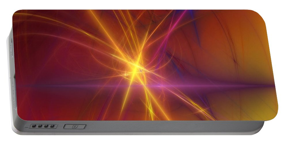 Abstract Portable Battery Charger featuring the digital art Abstract 081210a by David Lane