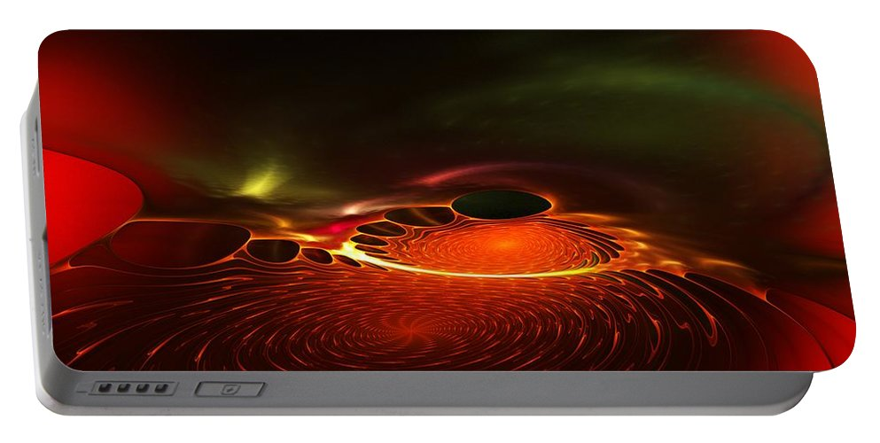 Abstracts Portable Battery Charger featuring the digital art Abstract 081410a by David Lane