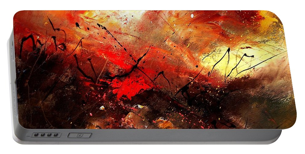 Abstract Portable Battery Charger featuring the painting Abstract 100202 by Pol Ledent