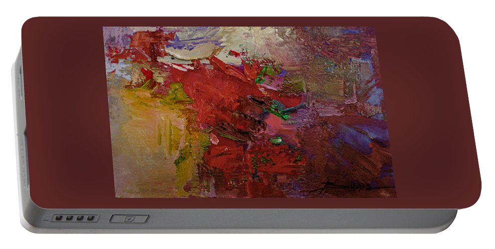 Abstract Portable Battery Charger featuring the painting Abstract 103 by Betty Jean Billups