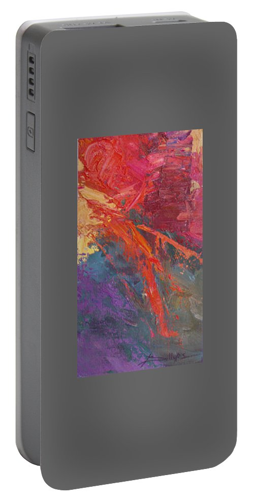 Abstract Portable Battery Charger featuring the painting Abstract 103a by Betty Jean Billups