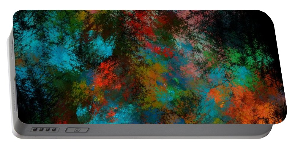 Abstract Digital Painting Portable Battery Charger featuring the digital art Abstract 11-18-09 by David Lane
