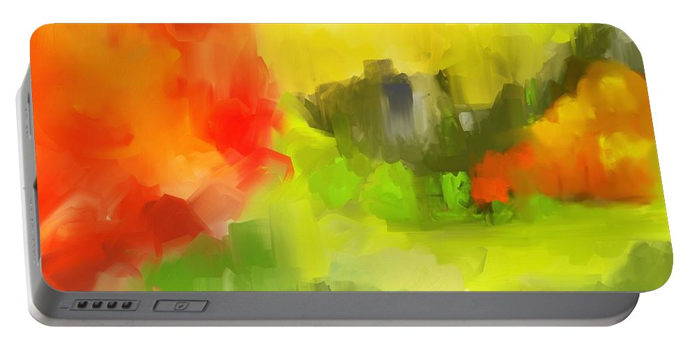 Abstract Portable Battery Charger featuring the digital art Abstract 112210 by David Lane