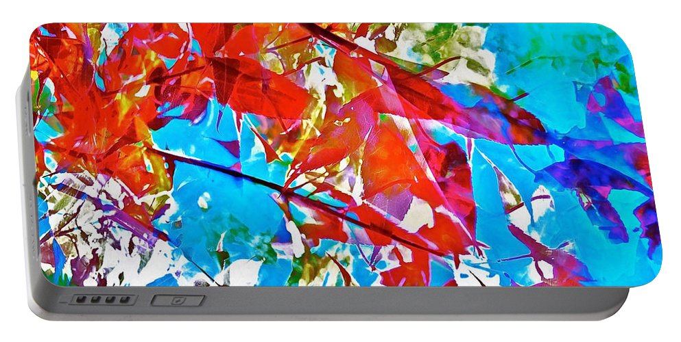 Abstract Portable Battery Charger featuring the photograph Abstract 128 by Pamela Cooper