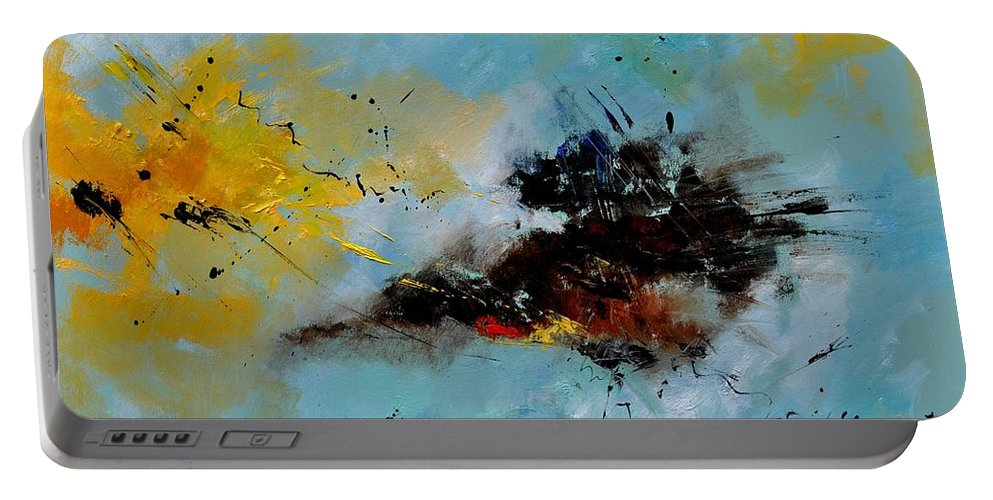 Abstract Portable Battery Charger featuring the painting Abstract 1811803 by Pol Ledent