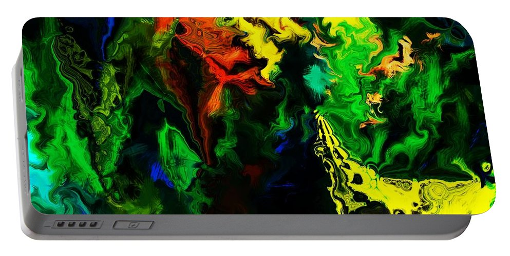 Abstract Portable Battery Charger featuring the digital art Abstract 2-23-09 by David Lane