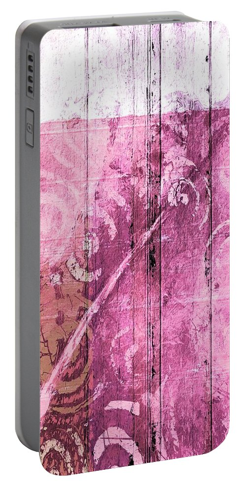 Abstract Portable Battery Charger featuring the painting Abstract 2 by Anna K
