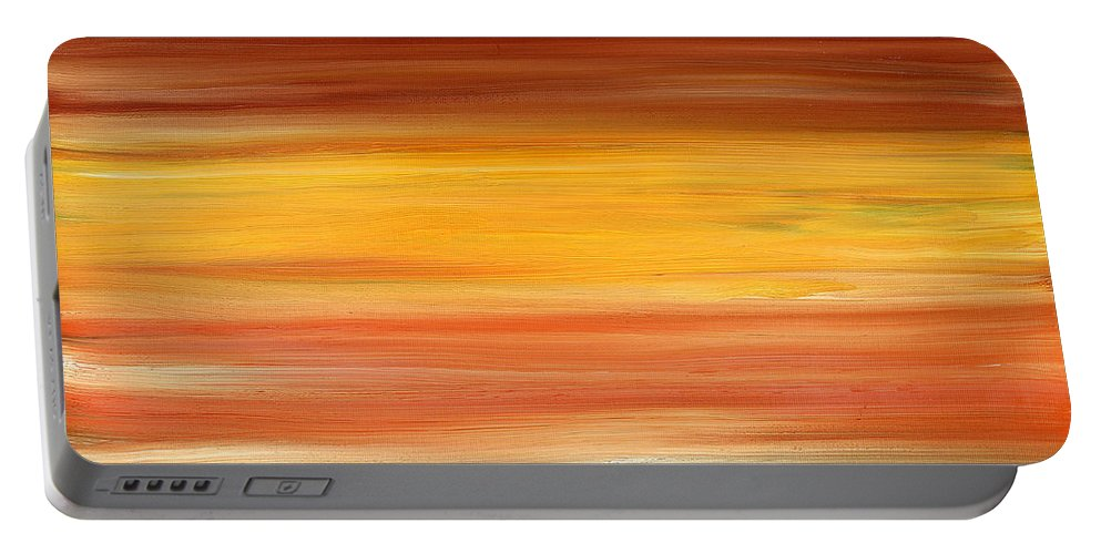Abstract Portable Battery Charger featuring the painting Abstract 425 by Patrick J Murphy