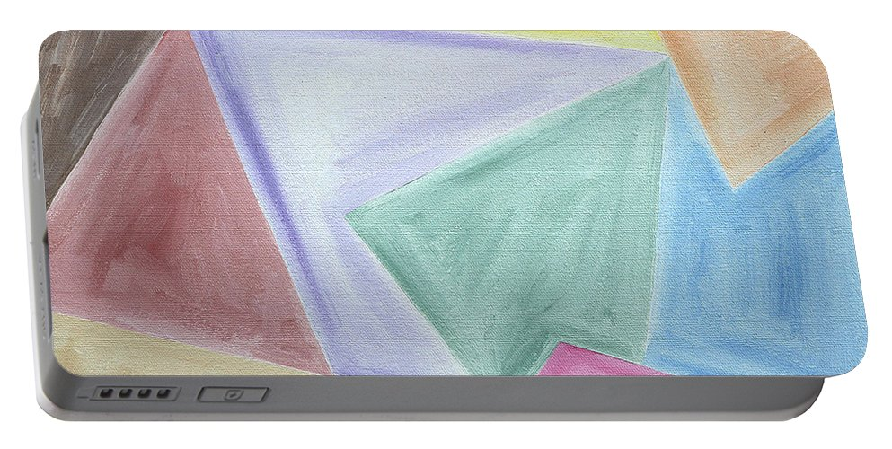 Shapes Portable Battery Charger featuring the painting Abstract 437 by Patrick J Murphy
