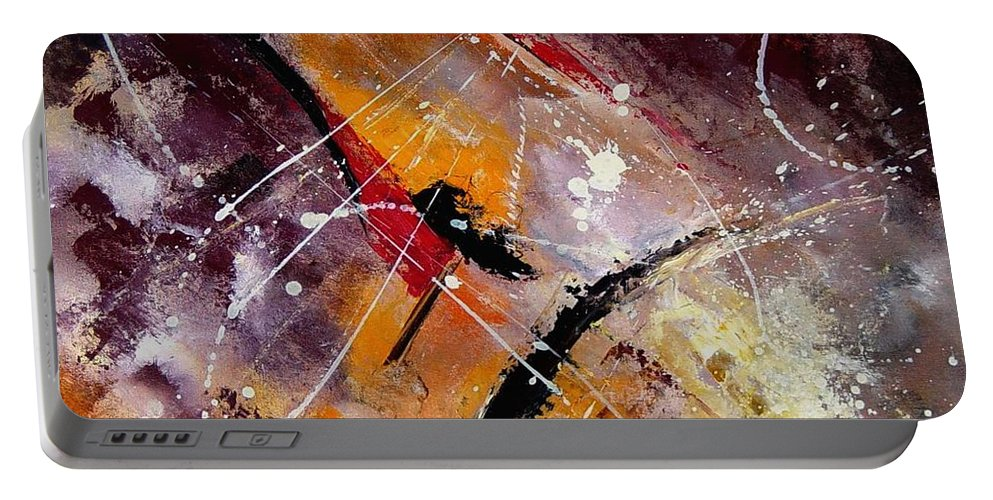 Abstract Portable Battery Charger featuring the painting Abstract 45 by Pol Ledent