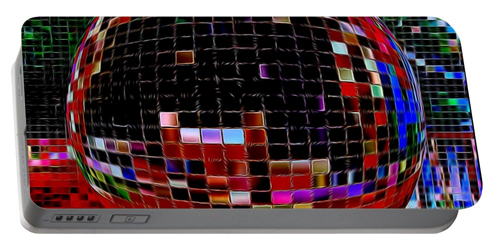 Digital Art Portable Battery Charger featuring the digital art Abstract 452 by Kristalin Davis