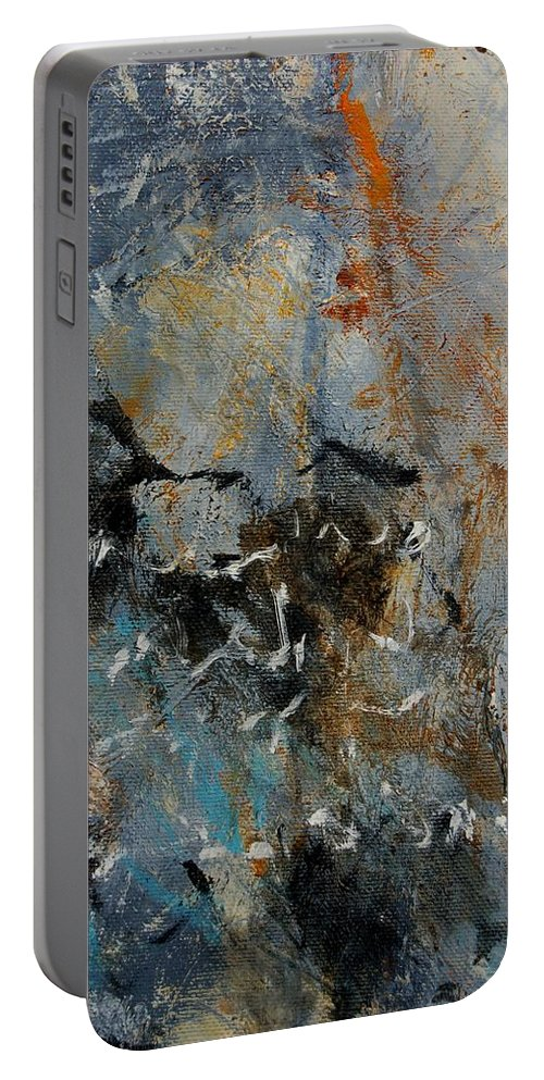 Abstract Portable Battery Charger featuring the painting Abstract 4526987 by Pol Ledent