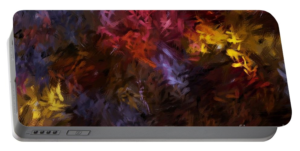 Abstract Portable Battery Charger featuring the digital art Abstract 5-23-09 by David Lane