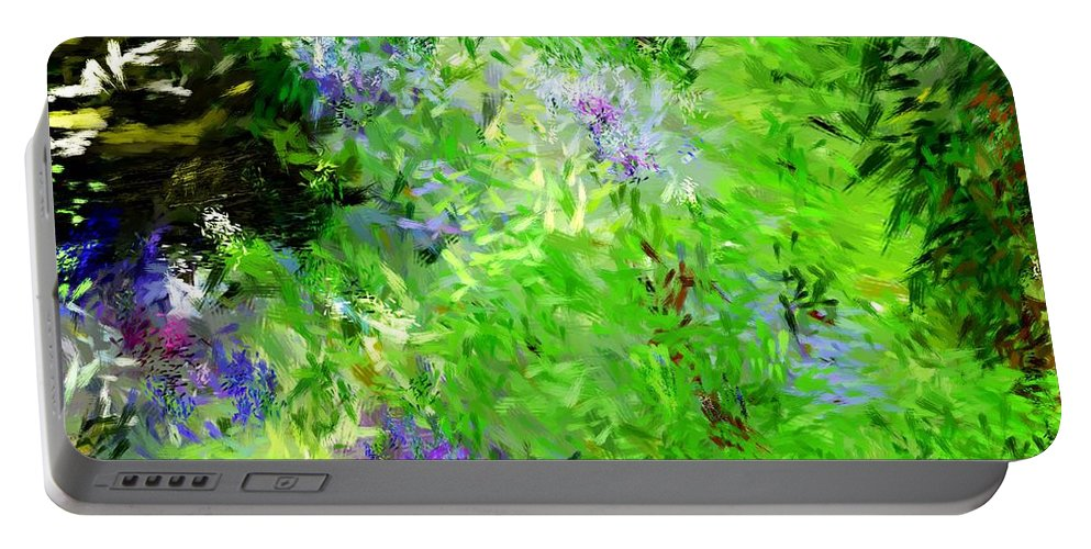 Abstract Portable Battery Charger featuring the digital art Abstract 5-26-09 by David Lane